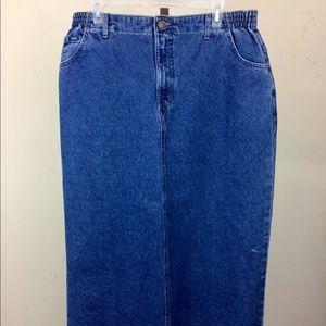 Dresses & Skirts - LIKE NEW Denim Maxi Skirt